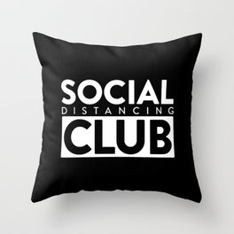 social distancing club Throw Pillow