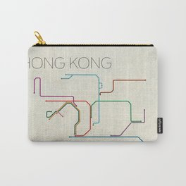 Minimal Hong Kong Subway Map Carry-All Pouch