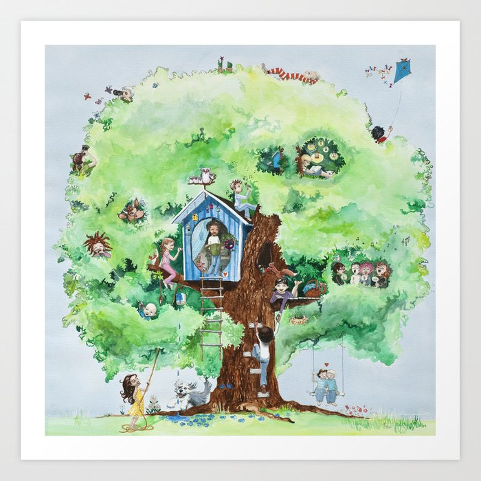 Climbing tree Art Print