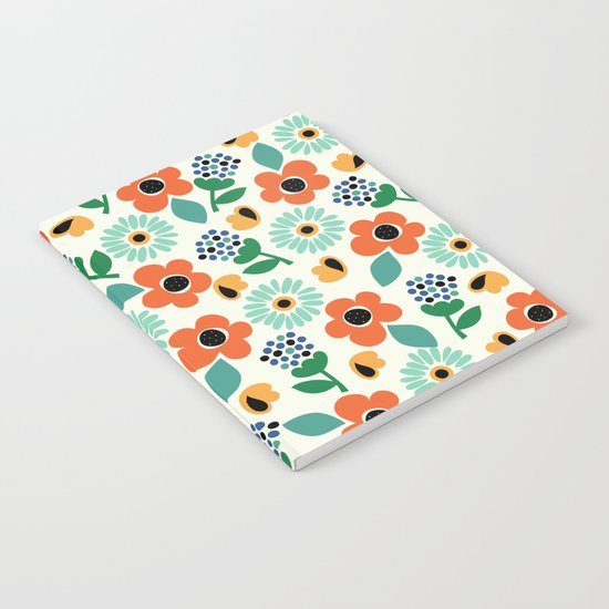 Floral Time Notebook