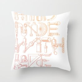 Hand Made With Love Throw Pillow