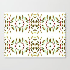 Folk Leaves Canvas Print
