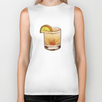 drink Biker Tanks featuring DRINK  by MR. VELA