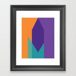 Cacho Shapes XCVIII Framed Art Print