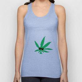"""Cartoon Weed Leaf Design"""" Marijuana leaf Leaf Unisex Tank Top"""