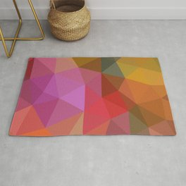 Autumn Leaves Low Poly Rug