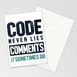 Backend Developer Code Never Lies Frontend Stationery Cards