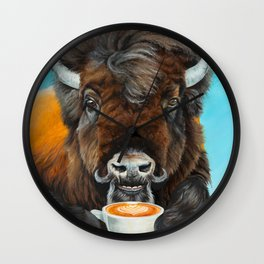 Bison Latte Wall Clock