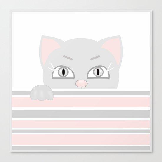 Small kitten. Canvas Print