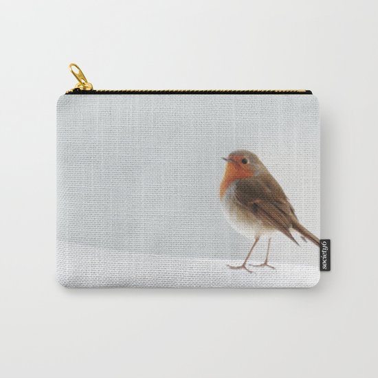 Robin into the Snow Carry-All Pouch