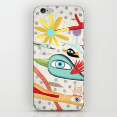 Cat and Birds Illustration 2016 iPhone & iPod Skin