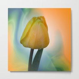 flowers on texture -500- Metal Print