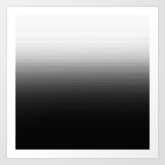 Black Ombre Art Print