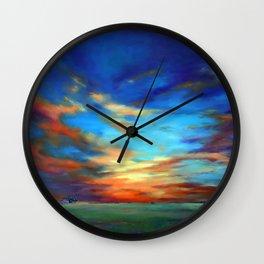 Sunset in the Heartland Wall Clock