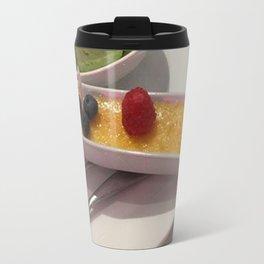 Creme brûlée and green tea ice creme Travel Mug