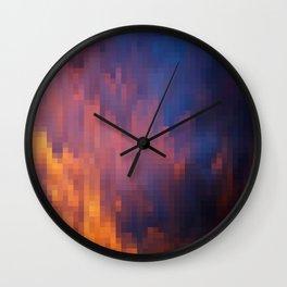 Melting Sky Mosaic Wall Clock