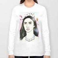 pocahontas Long Sleeve T-shirts featuring Pocahontas by Ana Bidault