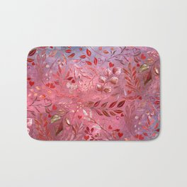 Urban Red Flourish Bath Mat