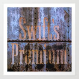 Railroad Boxcar Texture Swift's Premium Rust Rusty Rivets Train Car Art Print