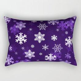 Dark Purple Snowflakes Rectangular Pillow
