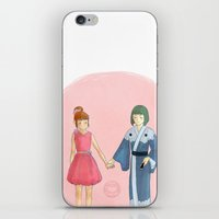neil young iPhone & iPod Skins featuring Young by Hot Cuppah Jo