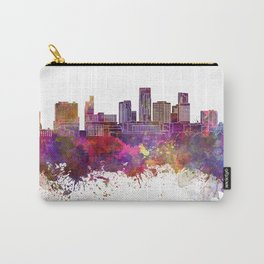 St. Paul skyline in watercolor background Carry-All Pouch