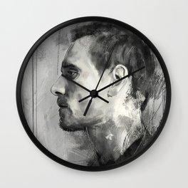 Michael Fassbender side view Wall Clock