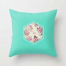 Floribus Sextae Throw Pillow