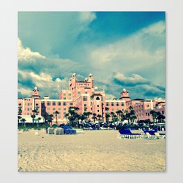 Castle in the Pink Canvas Print