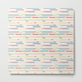 Morse Code Pastel Pattern Metal Print