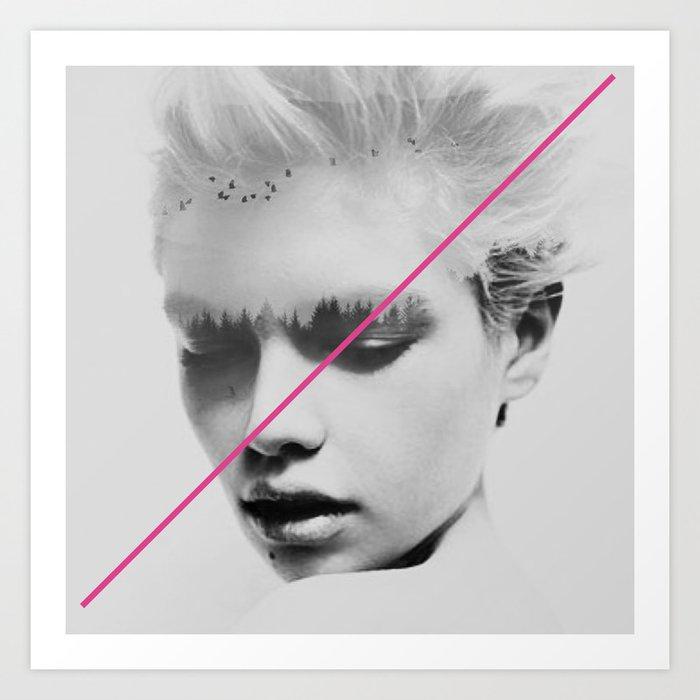 PiNk STripe to ART Art Print