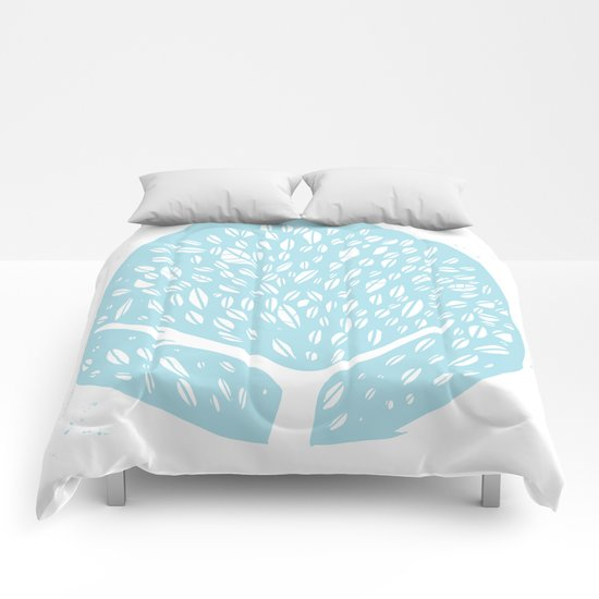 Tree of life - baby blue Comforters
