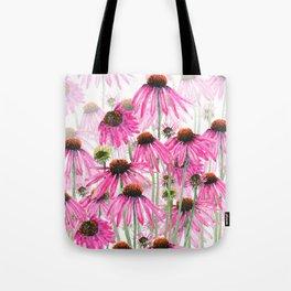 pink coneflower field Tote Bag