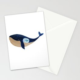 Mother whale Stationery Cards
