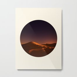 Desert Sunset & Stars In The Sky Metal Print