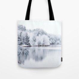 White Wonder Reflection Tote Bag