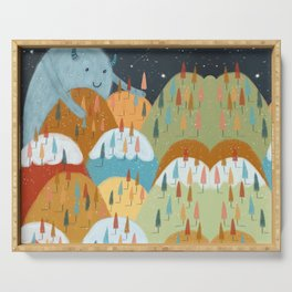 the rainbow forest Serving Tray