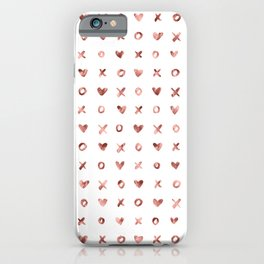 XOXO Love Me Rose Gold Pattern iPhone Case