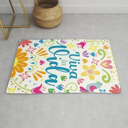 Viva la Vida Colorful Joyful Rug