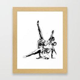 ballet dancers Framed Art Print