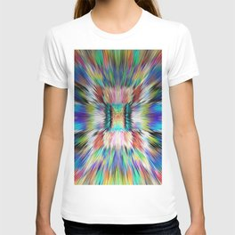 173 - Running as fast as I can abstract design T-shirt