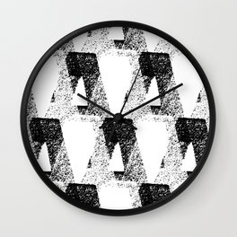 black & white / modern repeat Wall Clock