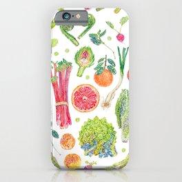 Spring Harvest Pattern White iPhone Case