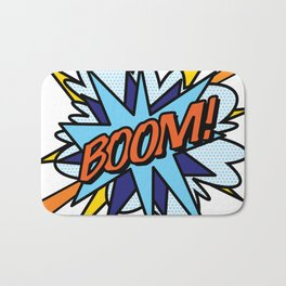 Comic Book Pop Art BOOM Bath Mat