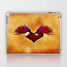 FLYING SKULL HEART Laptop & iPad Skin