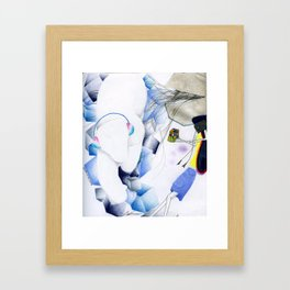 Puzzled. Framed Art Print