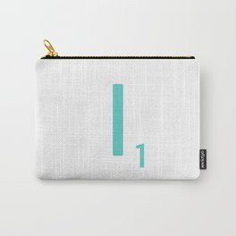 Scrabble Wall Art Blue Letter I Carry-All Pouch