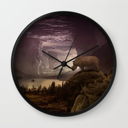 View on the plain by GEN Z Wall Clock