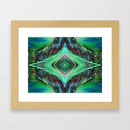 Texture's eye Framed Art Print