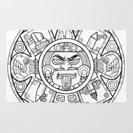 Pencil Wars Shield Rug